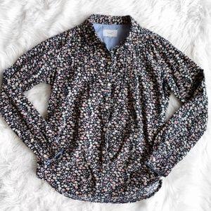 Anthropologie Corduroy Button down floral shirt